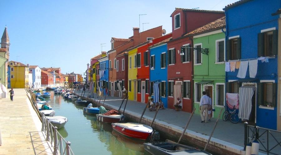 Colourful Burano Island in Italy