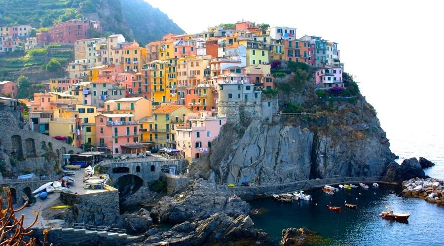 Colourful Manarola Cinque Terre in Italy