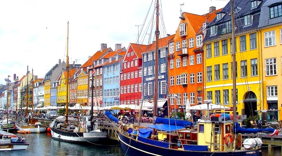 Colourful Nyhavn, Copenhagen in Denmark