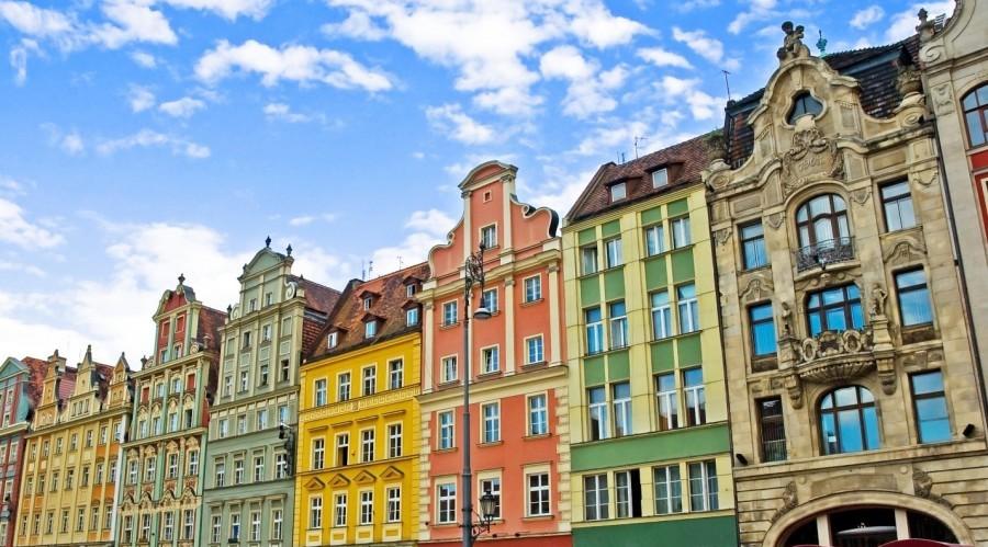 Colourful Rynek, Wroclaw in Poland