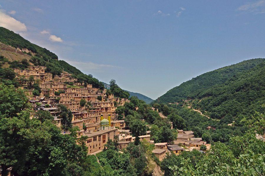 photos of iran Masouleh rooftop village