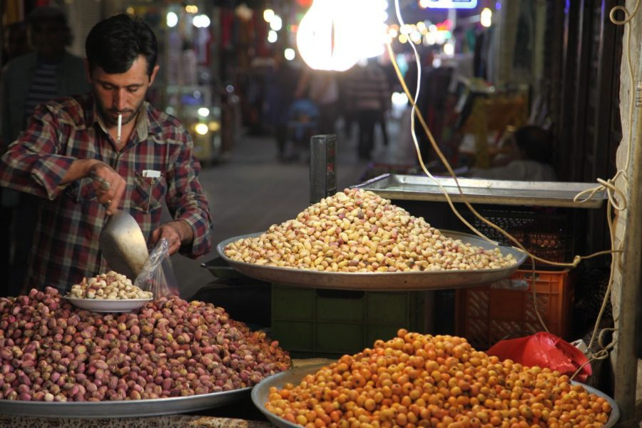 photos of iran pistachio vendor