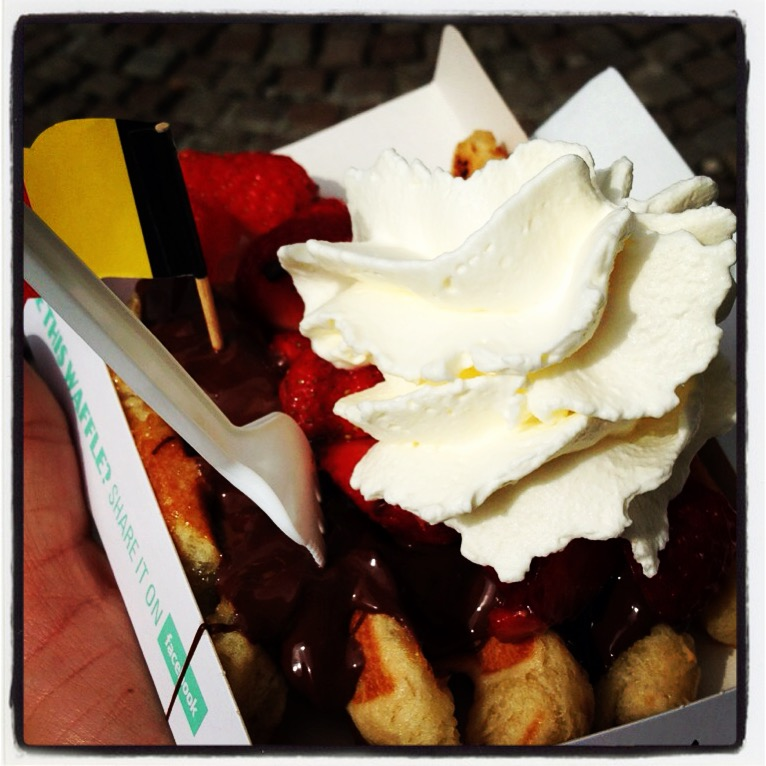 Waffle in Belgium - Sweets in Europe