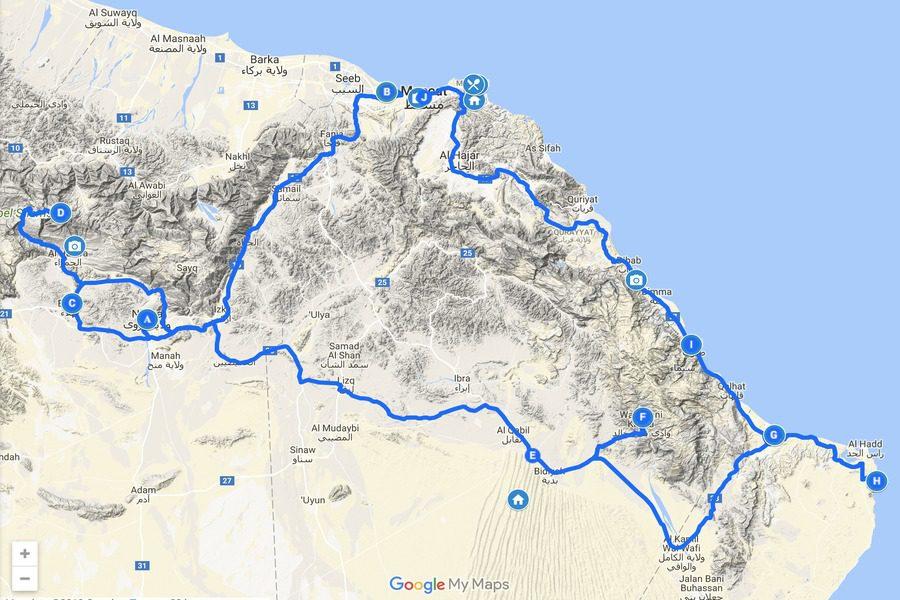 road trip in oman