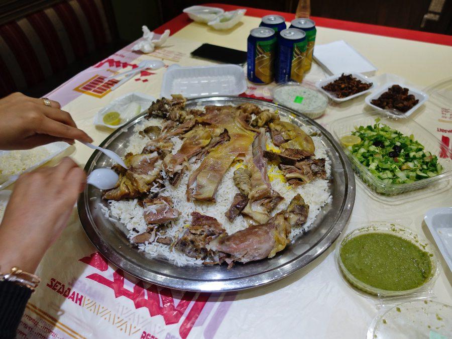 Dinner in Saudi Arabia