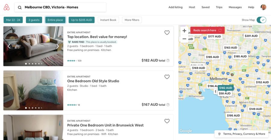 airbnb cheap accommodation website