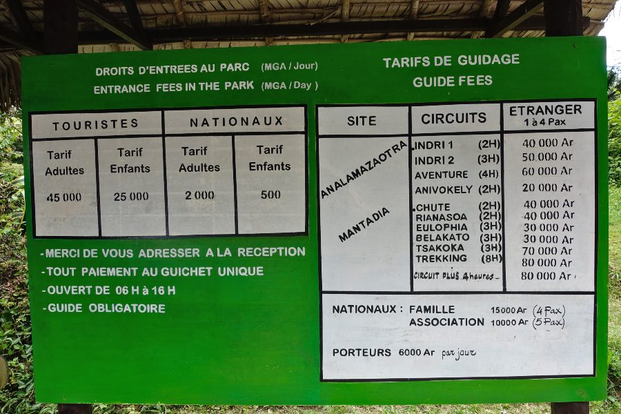 Andasibe national park prices