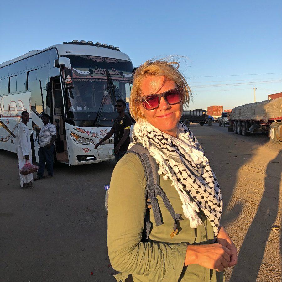 Meroe Pyramids Public Transpot Bus