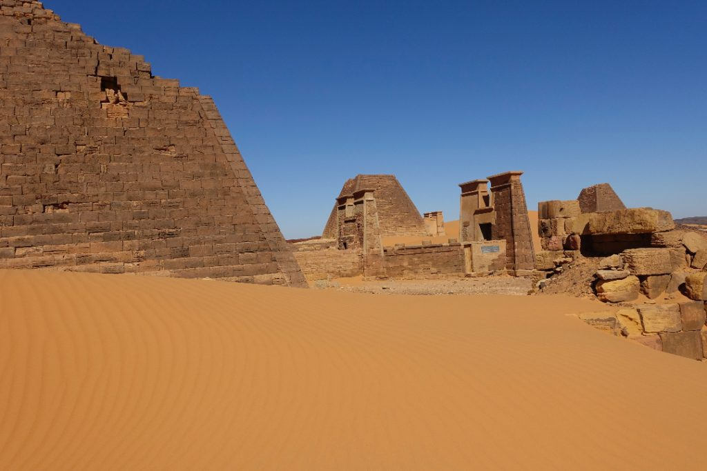 how to get to Meroe pyramids by public transport