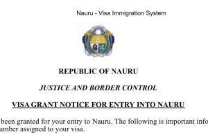 How to get visa to Nauru the grant
