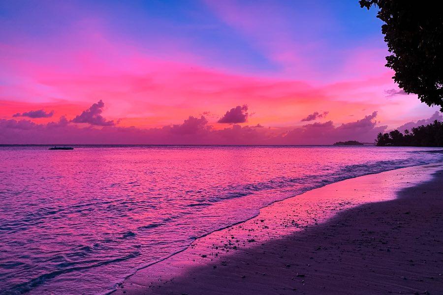 sunset on eneko island
