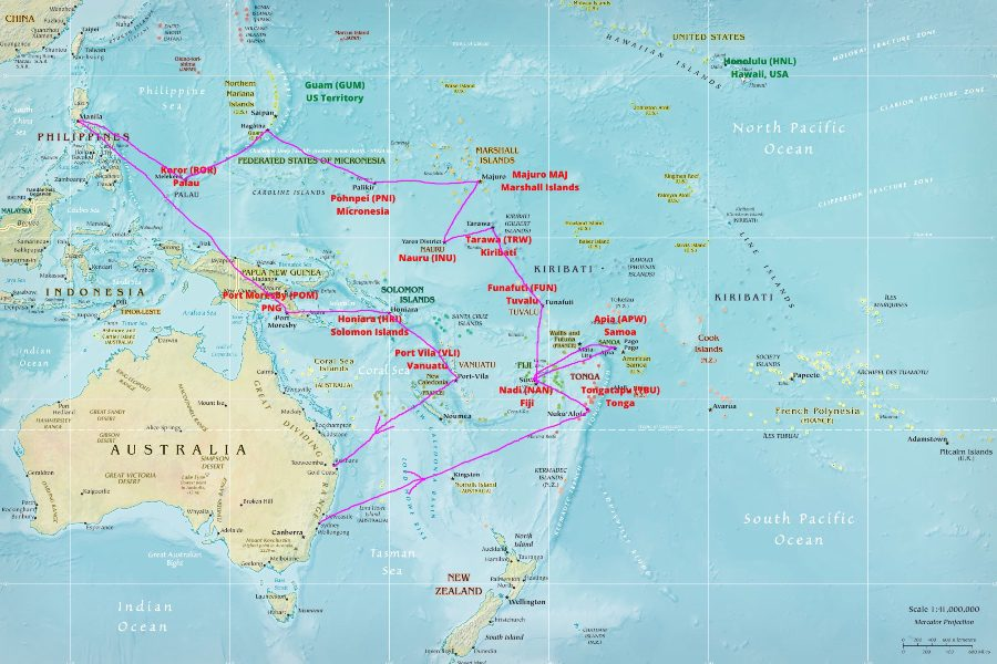 How to visit every country in the Pacific Itinerary