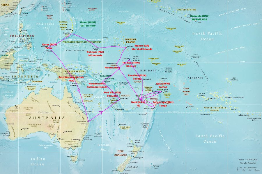 How to visit every country in the Pacific - Itinerary 2