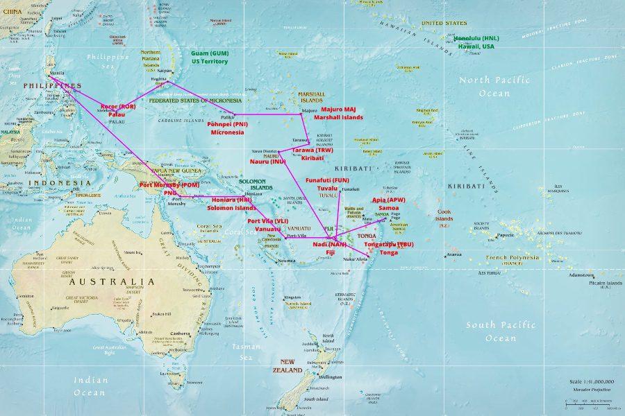 Flight Itinerary from Asia Manilla